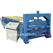 Máquina formadora de rollos de acero de doble capa automática de color frontal de Cangzhou