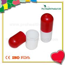 Boîte en plastique à forme de capsule pour cadeaux promotionnels