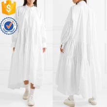 Свободная посадка негабаритных Белый длинный рукав хлопок Miaxi летнее платье Производство Оптовая продажа женской одежды (TA0314D)
