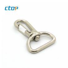 Fashion new style carabiner custom logo light metal hook swivel snap hook hook for handbag