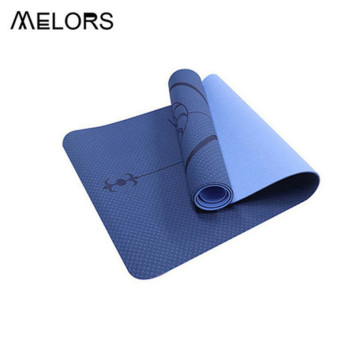 MELORS Eco Friendly Yoga Mat Alignment Line Matte