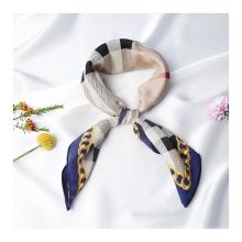 Custom logo made silk scarf 16MM