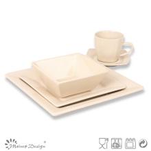 Natural Cream Color Square Shape 20PCS Dinner Set
