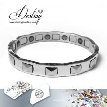 Destino joias cristais de Swarovski pulseira pulseira de titânio