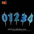 High Reputation Free Combination Zero To Nine Unique Birthday Number Candles Made In China