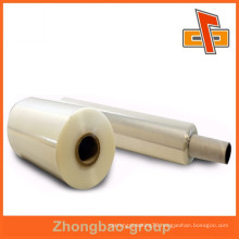 Transparent PE stretch film with suspended packing