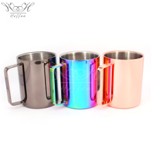 Taza de acero inoxidable con doble pared 16OZ con asa