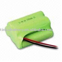Rechargeable battery pack Ni-MH 5 pcs AA in series