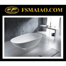 Fashional Design Matt/Glossy White Solid Surface/Stone Resin Bathtub (BS-8616)