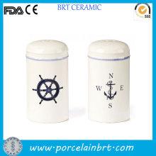 Bouteille de salière de sel de logo fait sur commande de conception de voilier