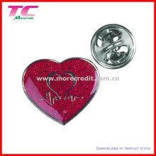 Insignia roja de encargo del Pin del recuerdo del día de madres del esmalte
