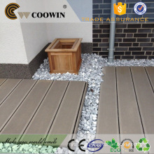 Outdoor patio water resistant composite timber plank