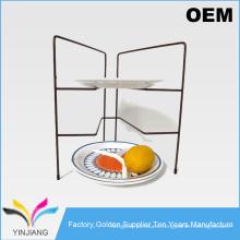 Cocina de suministro de metal contra plato de rack para pan organizador