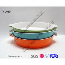 Conjunto de pratos de cozimento redondos promocionais