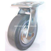 Rodízio giratório PU (cinza)