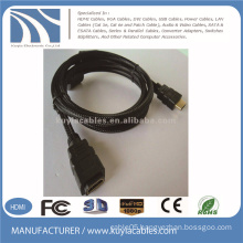 Black Nylon HDMI Extension Cable HDTV 1080p BluRay DVD