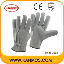 Light Color Furniture Leather Industrial Safety Driver Work Gloves (31015)