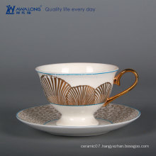 Fan Painting Decorated Promotion Cup, Fine Bone China Coffee Cup For Wholesale