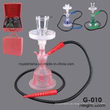 Al Fakher neue Design Yiwu All Glas Shisha Rauchen Glaspfeifen