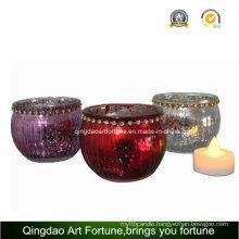 Electroplate Mercury Glass Jar for Home Christmas Decoration Jar