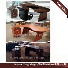 (HX-RY0039) Mahogany L Shape Manager Office Desk MFC Office Furniture