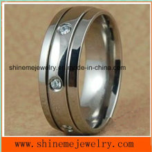 Joyería Anillos de titanio de acero inoxidable 316L (TR1820)