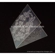2015 plástico crafts a pasta de gravação para a factura do cartão