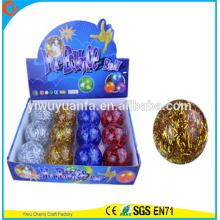 De alta calidad del juguete del juguete de goma 65 mm de largo del brillo de cuerda agua bola hinchable