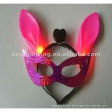 acender máscaras piscando máscara venda quente levou máscara de brilho