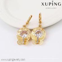 91366- Xuping Boucles d'oreilles plaqué or femme Fahion bijoux Rrop avec papillon en forme