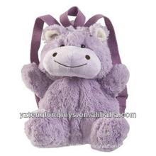 Fábrica al por mayor de animales en forma de mochila mochila hipopótamo