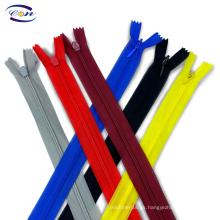 Color customized 3# nylon lace tape C/E A/L invisible zipper for garment