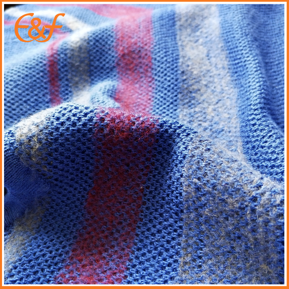 Blue sweater fabric