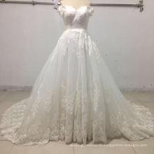 off плечо аппликация бальное свадебные платья