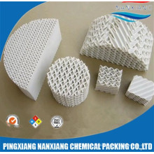RTO Ceramic structured packing as heat recovery media