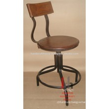 Super Durable Iron & Wood Bar Chair