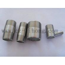 "1-1 / 2 ""de acero inoxidable 316L DIN2999 Pipe Fitting Barrel Nipple"