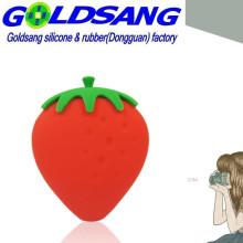 Bolso lindo coreano de la fresa del silicón / bolso de bolsillo