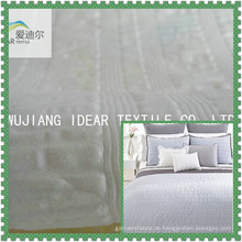 Solid gefärbt geprägte Polyester Seersucker Bettwaren