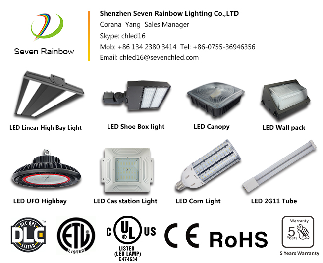 Led Shoe Box Area Street Light Seven Rainbow Lighting