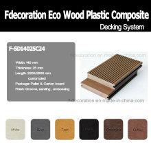 Eco Outdoor Wood Plastic Composite Decking WPC Flooring