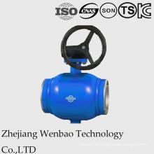 Válvula de bola flotante GOST con muñón de acero montado para la industria