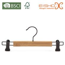 Atacado cabide de bambu com clipes (MB02)