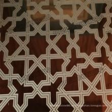 304 Edelstahl geätztes Blatt Ket003 für Dekorationsmaterialien