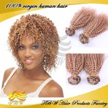 Оптовая девственницы бразильские вьющиеся волосы переплетения цвет #33 высокое качество
