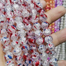 Bead Landing Wholesale Handmade Loose Beads UB-054 Crystal Crackle Beads for Jewelry