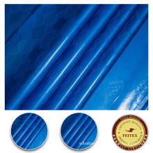 2017 Rideau Tissu 100% Coton Textile Bazin Brocade Huile Bleu Couleur Guinée Shadda Pansement Matériel Pour Noce