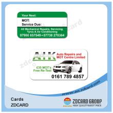Пластиковая карта PVC с постоянным магнитным полем