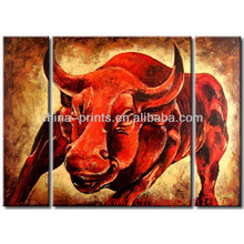 Hot Design Modern Animal Cow Painting On Canvas Decorative For Hotel