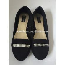Mulheres moda balé sapato 2016 microfibra superior com diamante planos casuais